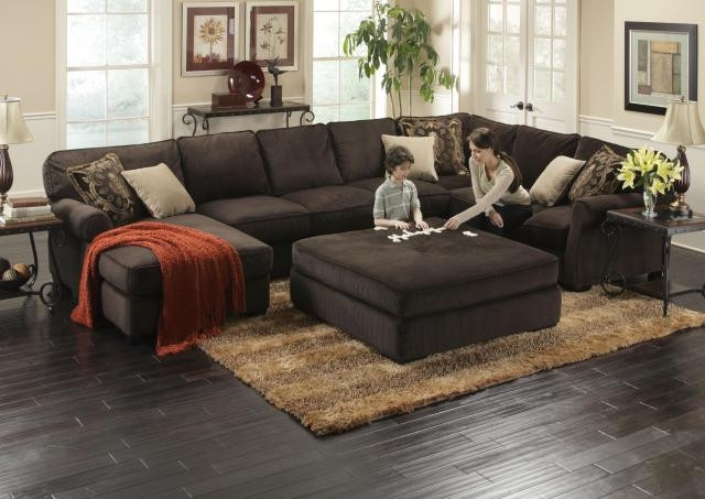 Deep Seated Sectional Couches Baccarat 3 Pc Sectional Product No Well Pertaining To Big Sofas Sectionals (View 6 of 20)