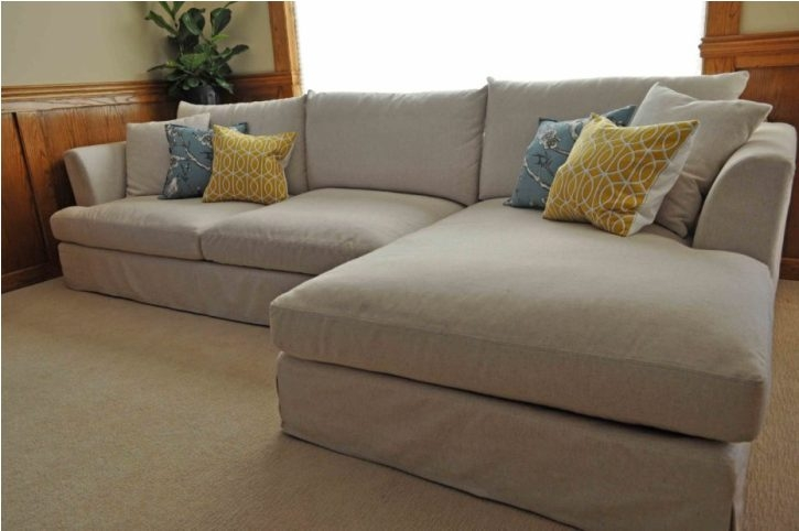 Deep Sectional Sofa Denim Sectional Sofa Small Sectional Sofa certainly pertaining to Deep Cushioned Sofas (Image 14 of 20)