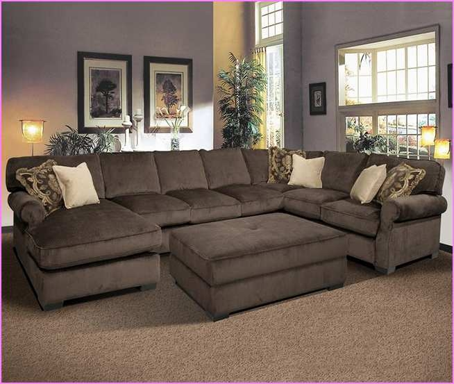 Deep Sectional Sofa Roselawnlutheran certainly regarding Deep Cushion Sofa (Image 12 of 20)