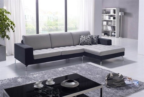 Dekin Two Toned Sectional Sofa 134999 Contemporary Living definitely intended for Two Tone Sofas (Image 6 of 20)
