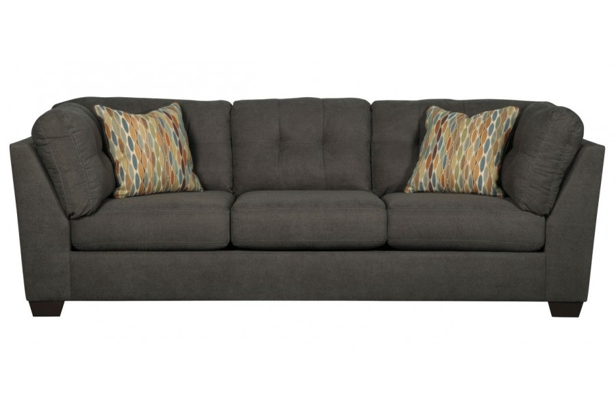 Delta City Steel 3 Pc Raf Chaise Sectional W Full Sleeper definitely throughout Ashley Tufted Sofa (Image 10 of 20)
