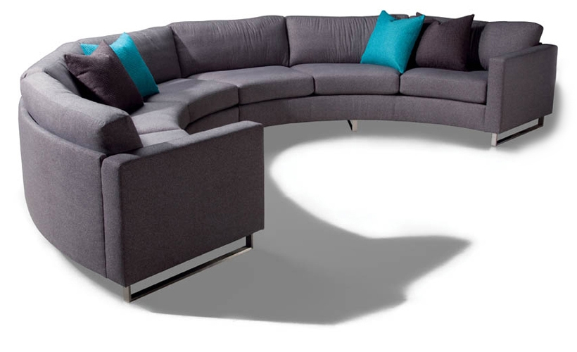 Design Classic 1224 Circular Sectional Sofa Milo Baughman From Certainly Pertaining To Circle Sectional Sofa (View 12 of 20)