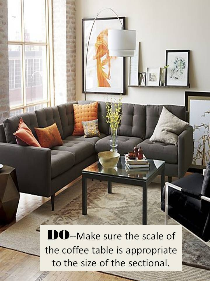 Design Guide How To Style A Sectional Sofa Confettistyle Most Certainly Intended For Coffee Table For Sectional Sofa (View 11 of 20)