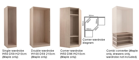 Design Your Own Schreiber Bedroom Buying Guide At Argoscouk very well regarding Tall Double Hanging Rail Wardrobes (Image 7 of 30)