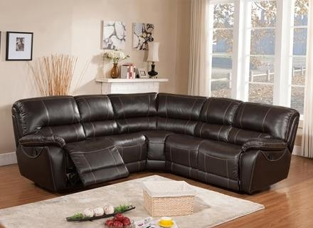 Diana Dark Brown Leather Sectional Sofa Set 10511277 Overstockcom effectively pertaining to Diana Dark Brown Leather Sectional Sofa Set (Image 8 of 20)