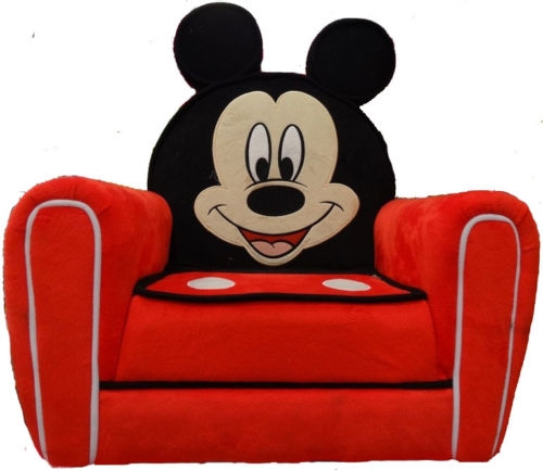 Disney Mickey Mouse Upholstered Childrens Arm Chair Sofa Free most certainly inside Disney Sofa Chairs (Image 15 of 20)