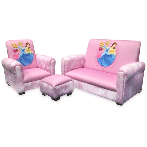 Disney Princess Hearts And Crowns Toddler Sofa Chair And very well pertaining to Toddler Sofa Chairs (Image 10 of 20)