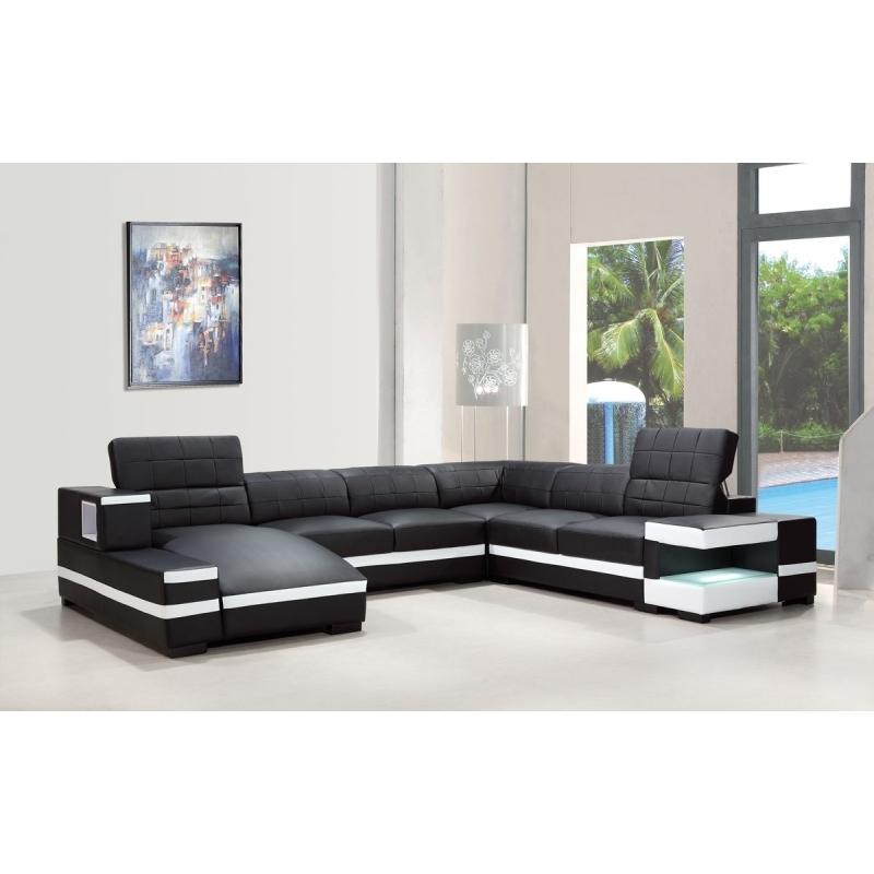 Divani Casa 1201leather Sofa Vig Furniture Furniture San Jose nicely throughout Backless Sectional Sofa (Image 5 of 20)