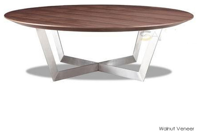 Dixon Coffee Table Contemporary Coffee Tables Inmod well inside Oval Walnut Coffee Tables (Image 7 of 20)