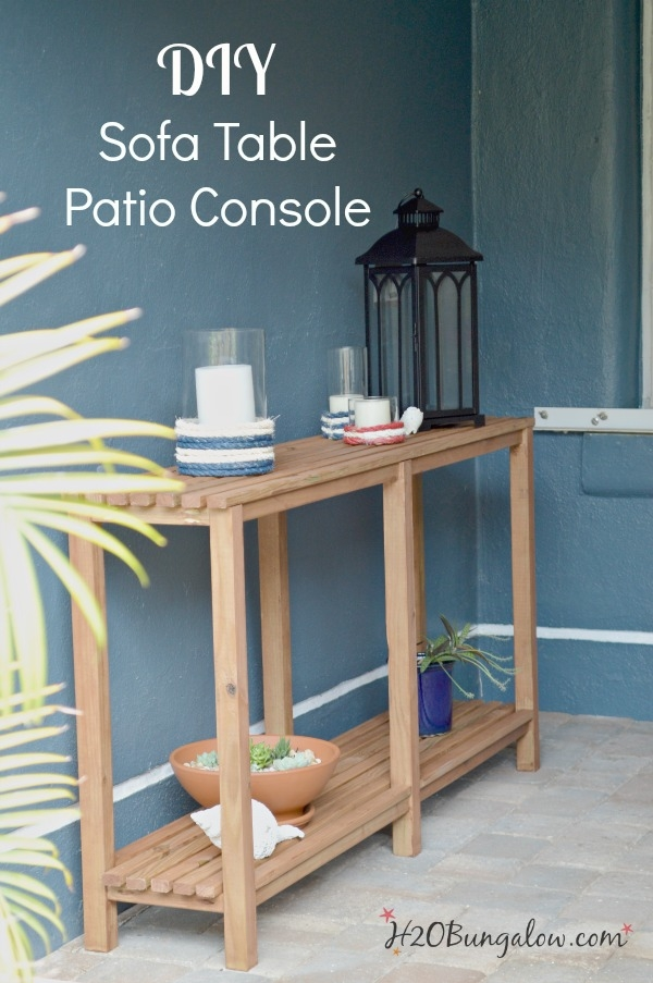 Diy Outdoor Sofa Table Tutorial H20bungalow properly with Patio Sofa Tables (Image 17 of 20)