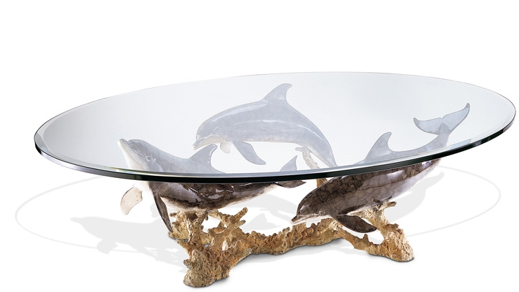 Dolphin Reef Coffee Table effectively with regard to Art Coffee Tables (Image 13 of 20)