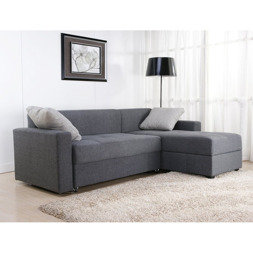 Dorel Home Products Sutton Convertible Sectional Sofa In Charcoal good inside Convertible Sectional Sofas (Image 8 of 20)