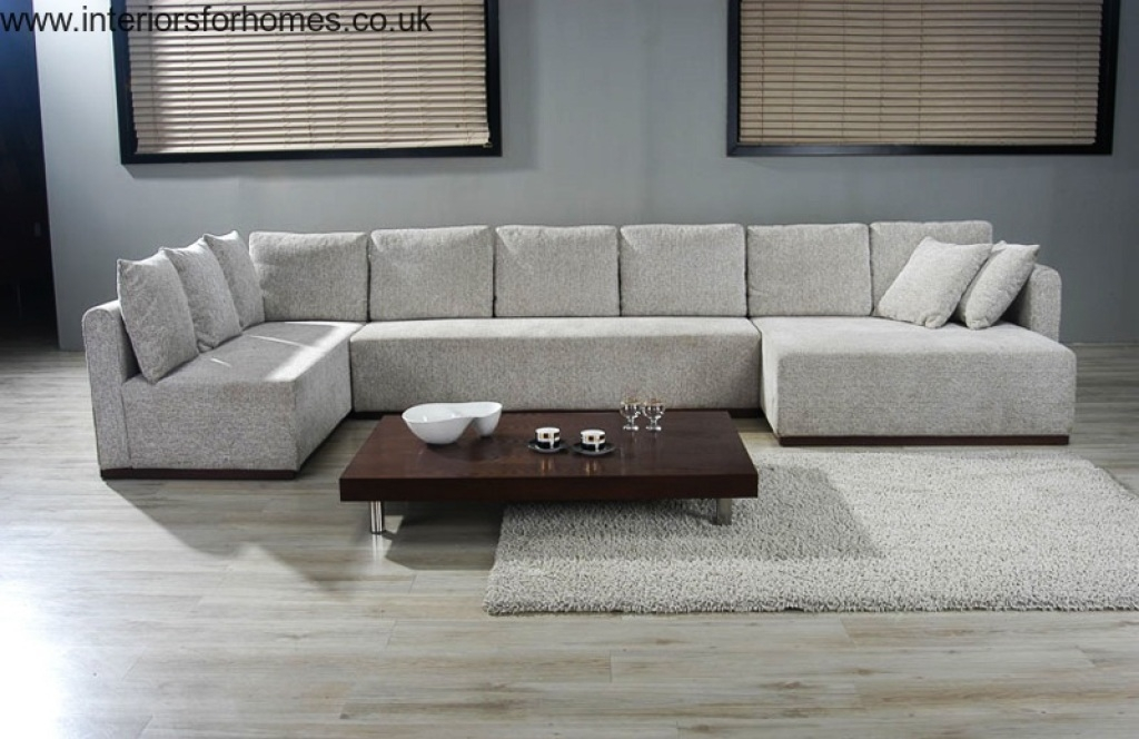 Double Chaise Sectional Sofa Large U Shaped Sectionals Future definitely inside Big Sofas Sectionals (Image 8 of 20)
