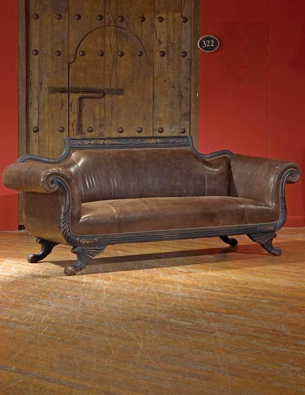 Duncan Phyfe Leather Sofawith Its Empire Design And Distinctively definitely regarding Victorian Leather Sofas (Image 5 of 20)
