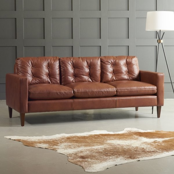 Dwellstudio Florence Leather Sofa Reviews Dwellstudio most certainly within Florence Sofas (Image 5 of 20)