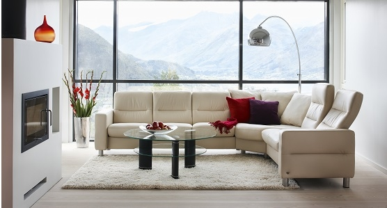 Ekornes Stressless Wave Low Back Sofa Ambiente Modern Furniture Very Well  Pertaining To Ekornes Sectional Sofa