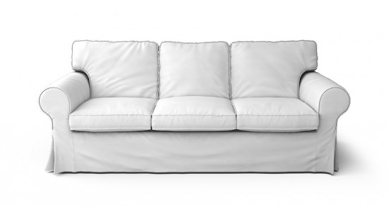 Ektorp 3 Seater Sofa Cover Beautiful Custom Slipcovers Comfort effectively regarding Three Seater Sofas (Image 6 of 20)