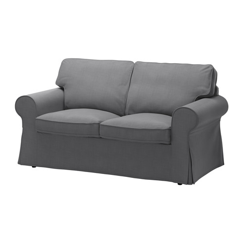Ektorp Two Seat Sofa Nordvalla Dark Grey Ikea clearly intended for IKEA Two Seater Sofas (Image 5 of 20)