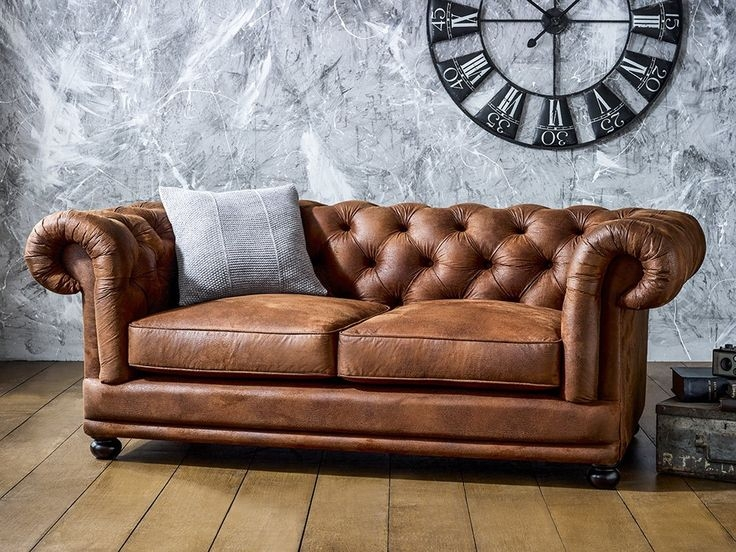 Enchanting Chesterfield Tufted Leather Sofa Vintage Chesterfield good in Leather Chesterfield Sofas (Image 13 of 20)