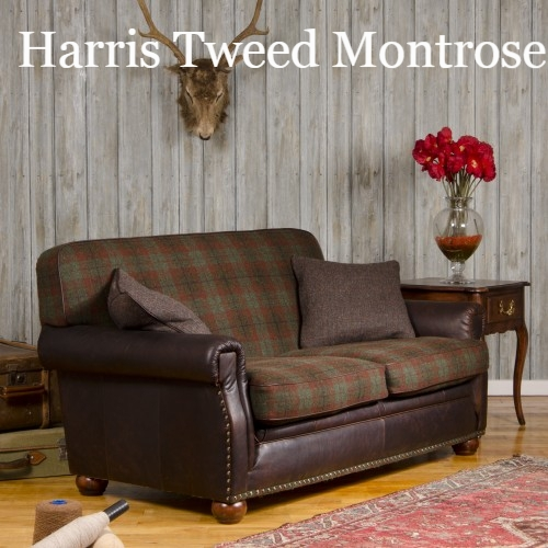 Englishmans Castle Leather Fabric Mix Sofas Leather And Fabric clearly inside Tweed Fabric Sofas (Image 5 of 20)