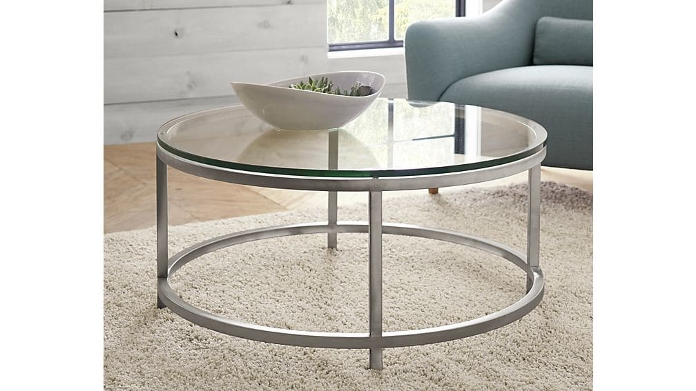 Era Round Glass Coffee Table Crate And Barrel effectively pertaining to Glass Coffee Tables (Image 13 of 20)