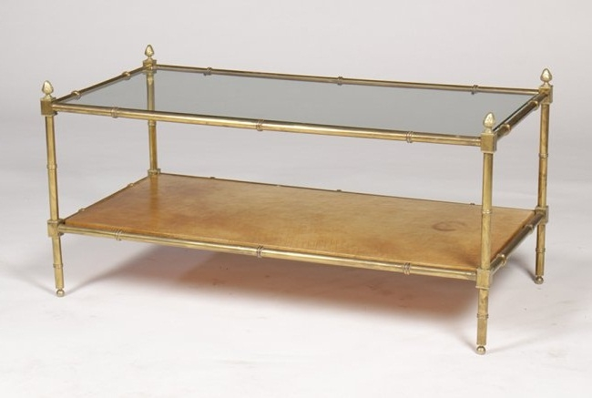 Excellent Bamboo Gl Coffee Table Faux Definitely Intended For Gold Tables