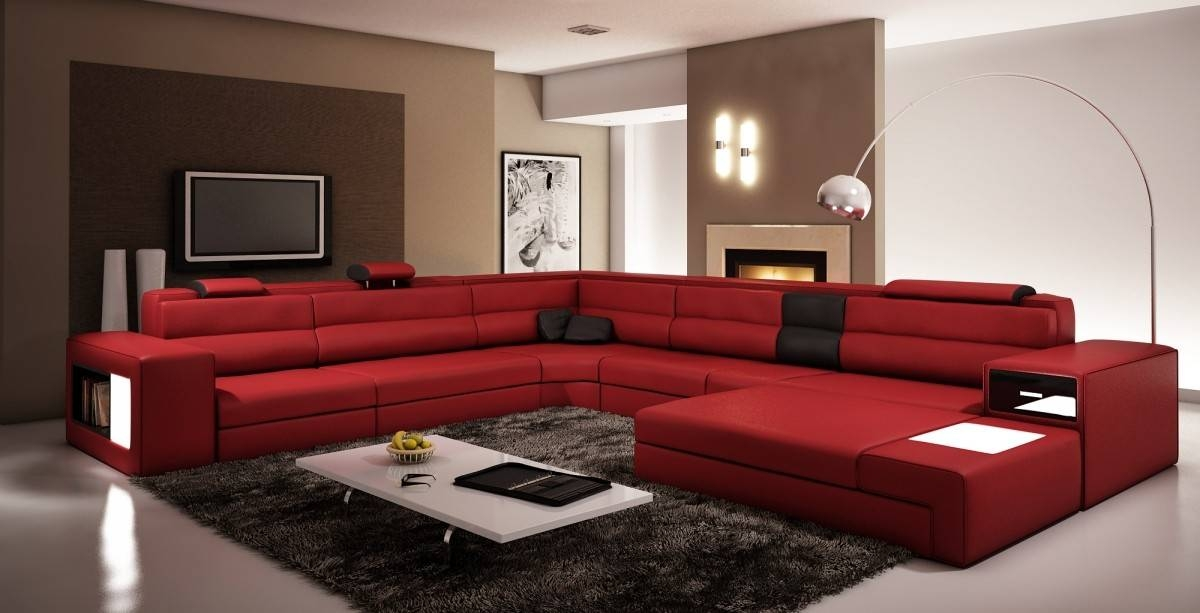Extra Large Contemporary Sectional Sofa In Copper With End Table certainly for Extra Large Sectional Sofas (Image 11 of 20)