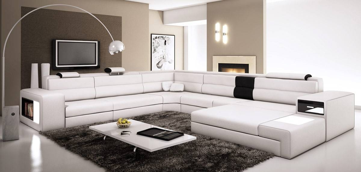 Extra Large Leather Sectional Sofa With Attached Corner Table definitely pertaining to Extra Large Sectional Sofas (Image 13 of 20)