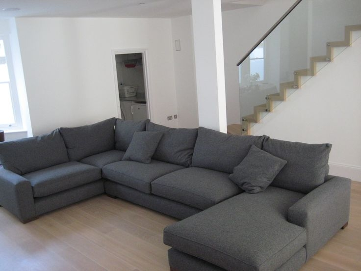 Extra Large New Sofa Set Settee Corner Group U Shape Grey 40 properly throughout Sofa Corner Units (Image 4 of 20)