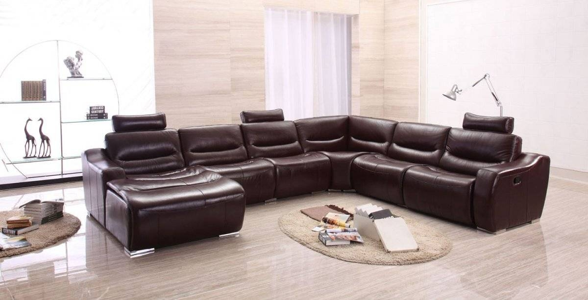 Extra Large Spacious Italian Leather Sectional Sofa In Brown San certainly intended for Extra Large Sectional Sofas (Image 17 of 20)