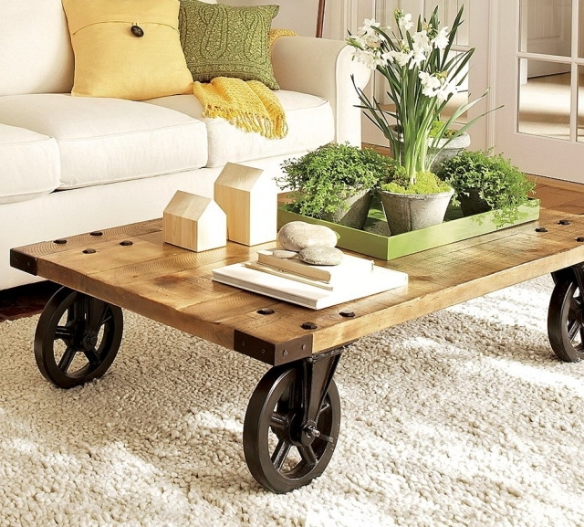 Extraordinary Coffee Table With Wheels As Well As Rustic Coffee nicely regarding Rustic Coffee Table With Wheels (Image 7 of 20)