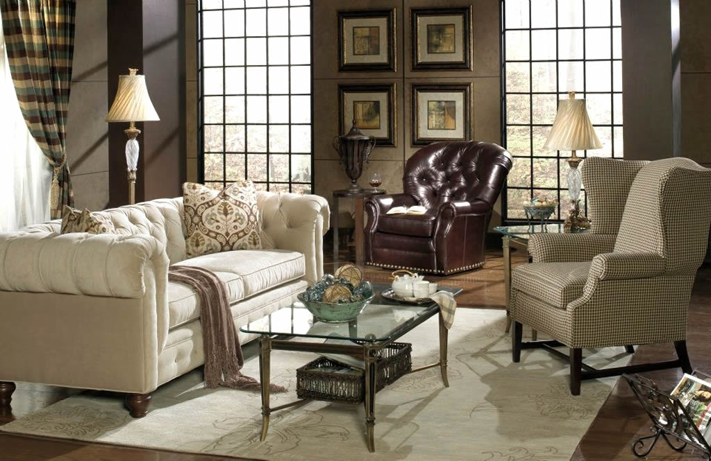 Popular Photo of Chesterfield Sofa And Chairs