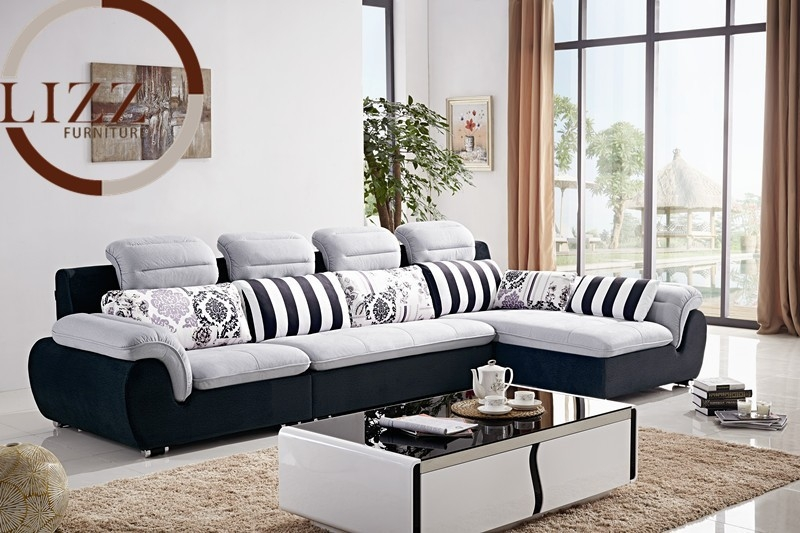 Fabric Sofa Set L Shape Very Well Pertaining To L Shaped Fabric Sofas (View 17 of 20)