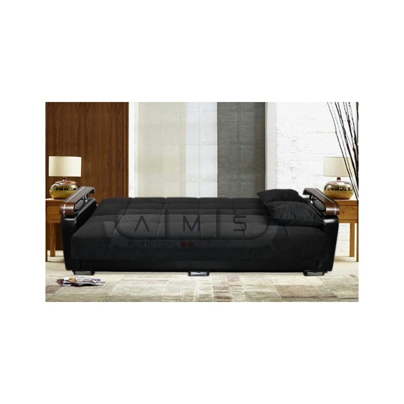 Fabric Storage Sofa Bed Settee Cheap Home Furniture good inside Storage Sofa Beds (Image 5 of 20)