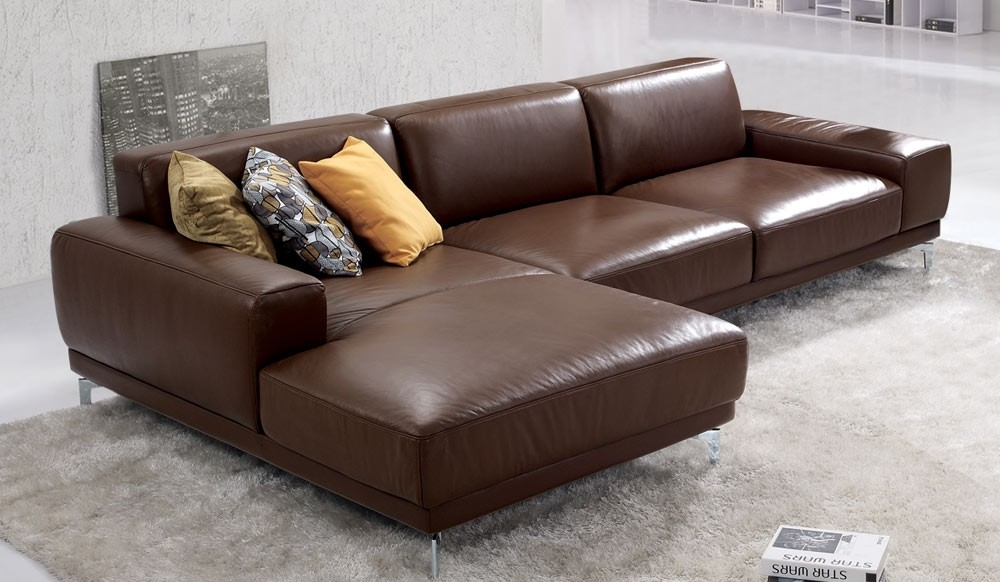 Fabulous Leather Corner Sofa With Corner Sofas Furniture most certainly intended for Small Brown Leather Corner Sofas (Image 6 of 20)