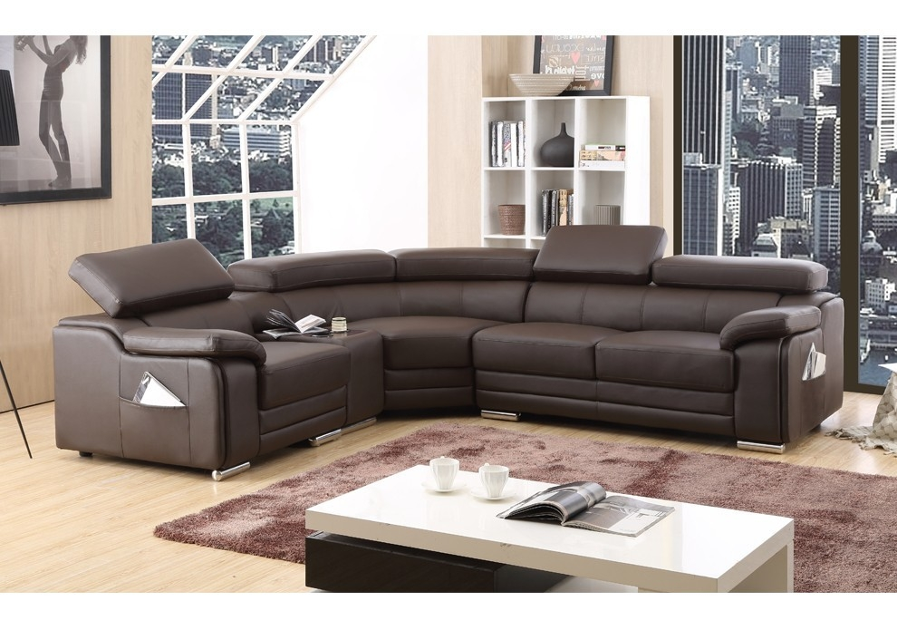 Fabulous Leather Corner Sofa With Corner Sofas Furniture perfectly intended for Small Brown Leather Corner Sofas (Image 7 of 20)