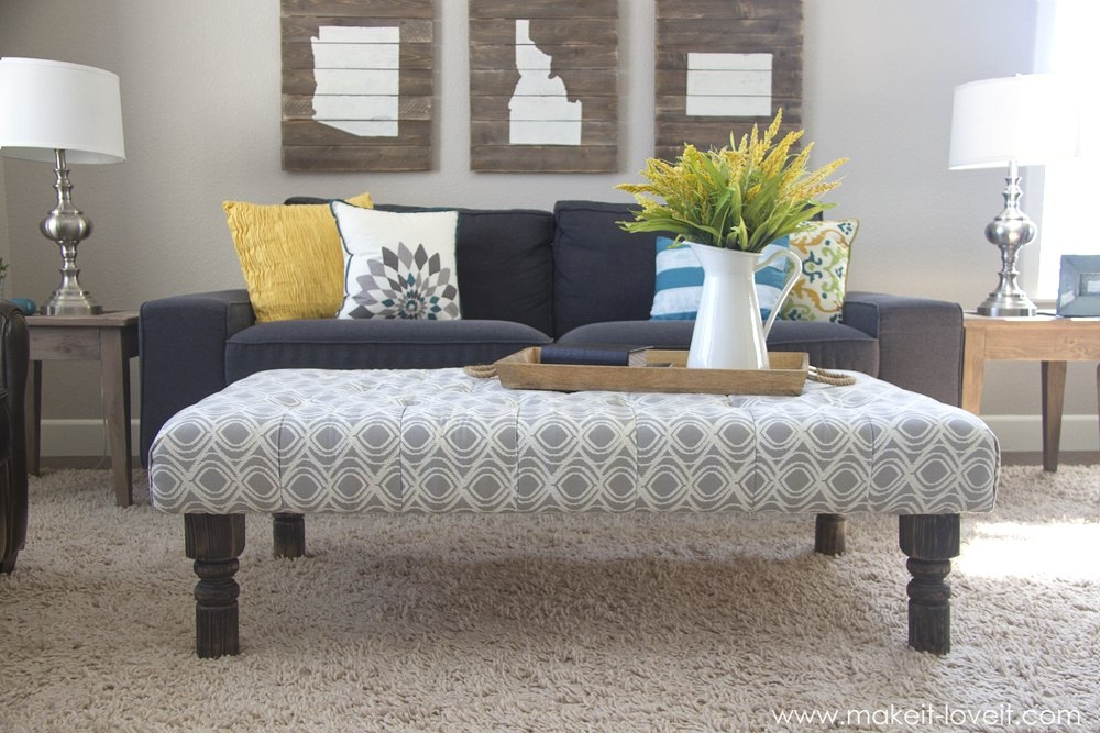 Fancy Fabric Ottoman Coffee Table Excellent Coffee Table Ottoman clearly intended for Fabric Coffee Tables (Image 14 of 20)