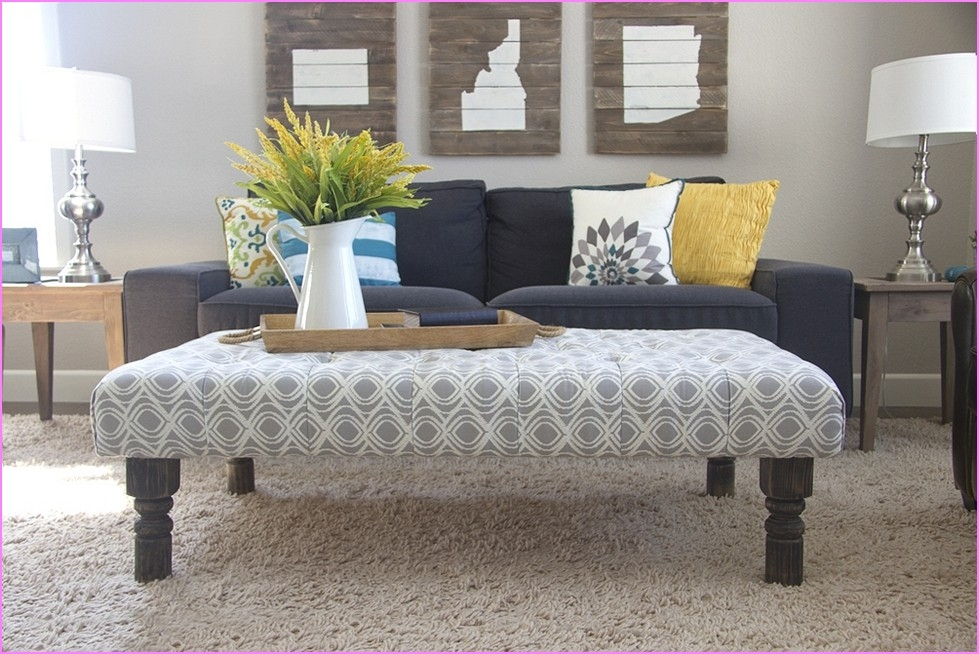 Fancy Fabric Ottoman Coffee Table Excellent Coffee Table Ottoman perfectly regarding Fabric Coffee Tables (Image 15 of 20)