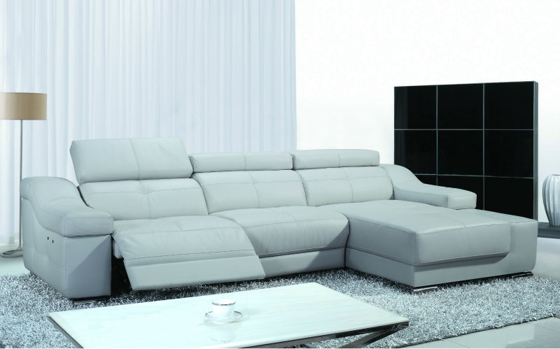 Fancy Genuine Leather Reclining Sofa Leather Recliner Sofahome effectively with Modern Reclining Leather Sofas (Image 7 of 20)