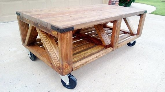 Fancy Rustic Coffee Table On Wheels Coffee Table Rustic Coffee certainly within Rustic Coffee Table With Wheels (Image 8 of 20)
