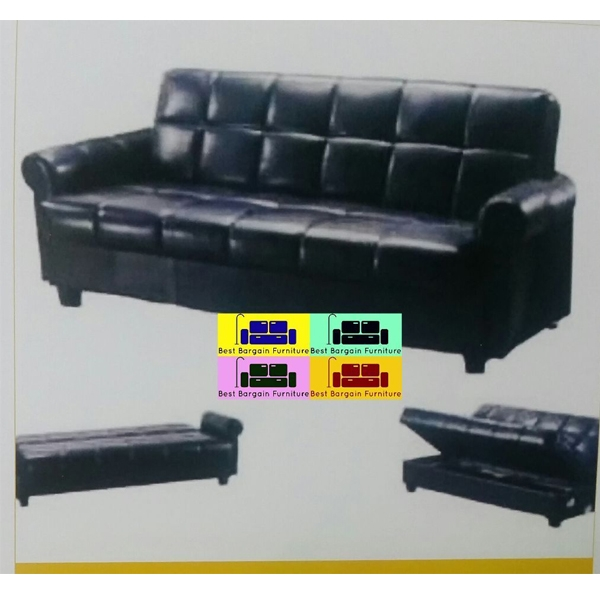 Faux Leather Storage Sofa Bed Best Bargain Furniture very well regarding Leather Sofa Beds With Storage (Image 10 of 20)