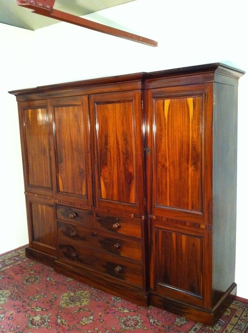 Fine Victorian Breakfront Wardrobe Antiques Atlas clearly intended for Breakfront Wardrobe (Image 9 of 30)