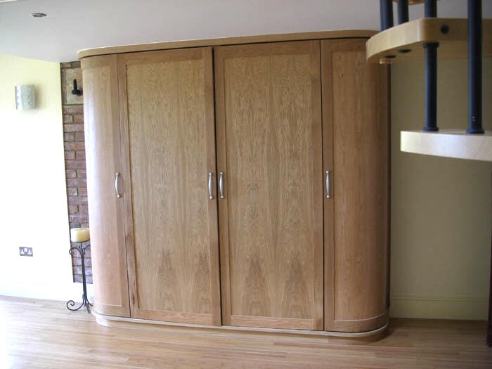 Fitted Bespoke Furniture Display Cabinets Secret Drawers very well in Curved Wardrobe Doors (Image 14 of 20)