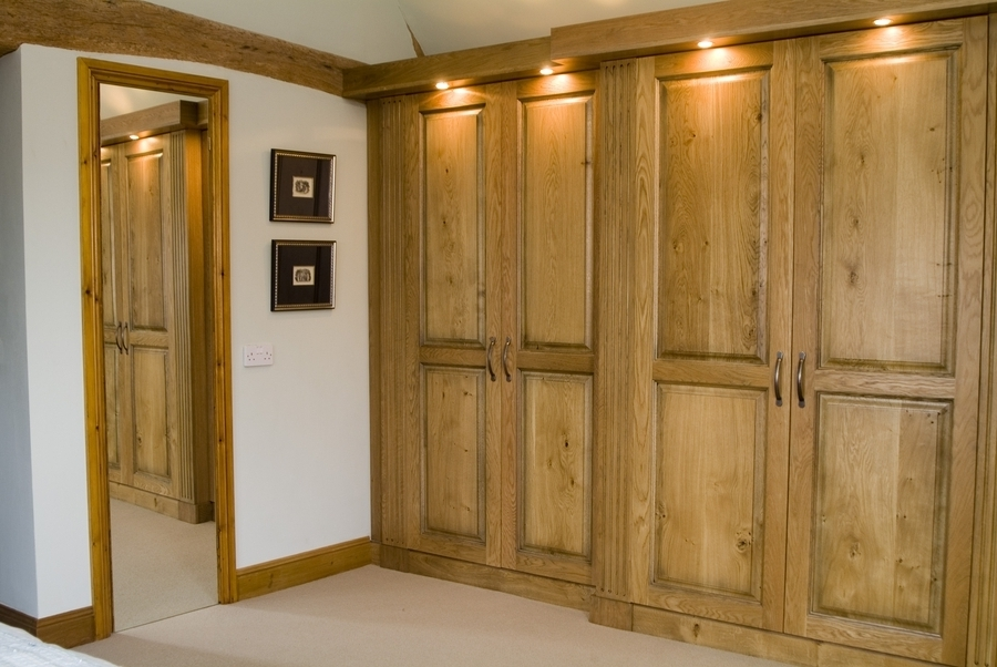 Fitted Oak Bedroom Furniture certainly with regard to Solid Wood Fitted Wardrobes (Image 6 of 30)