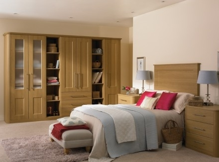 Fitted Oak Bedroom Furniture well with regard to Solid Wood Fitted Wardrobes (Image 15 of 30)