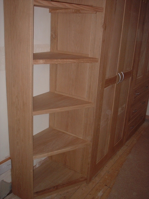 Fitted Oak Wardrobe With Integrated Shelving Gallery Thorne perfectly intended for Oak Wardrobe With Drawers And Shelves (Image 16 of 30)