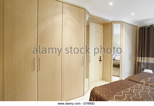 Fitted Wardrobes Stock Photos Fitted Wardrobes Stock Images Alamy nicely regarding Fitted Wooden Wardrobes (Image 16 of 30)