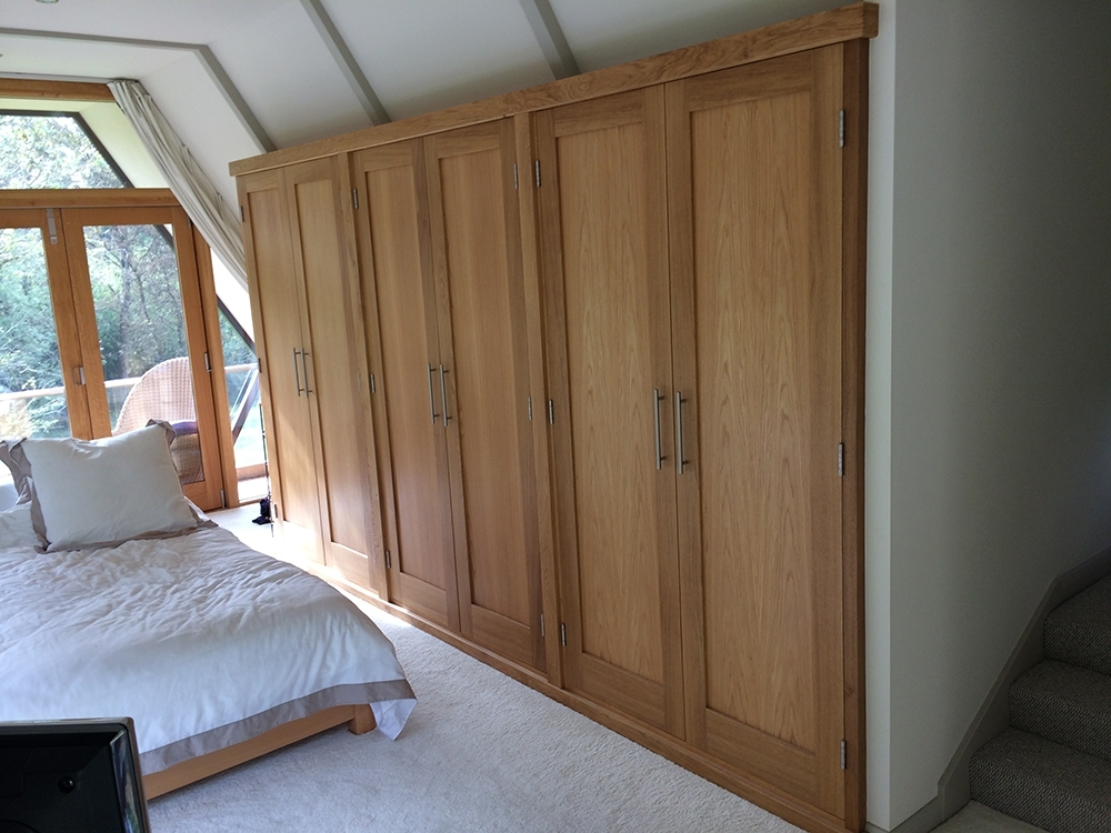 Fitted Wardrobes With Oak Doors The West Sussex Antique Timber perfectly intended for Solid Wood Fitted Wardrobes (Image 16 of 30)