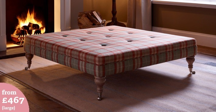 Footstools Upholstered Footstools Uk The Footstool Workshop definitely intended for Large Footstools (Image 9 of 20)