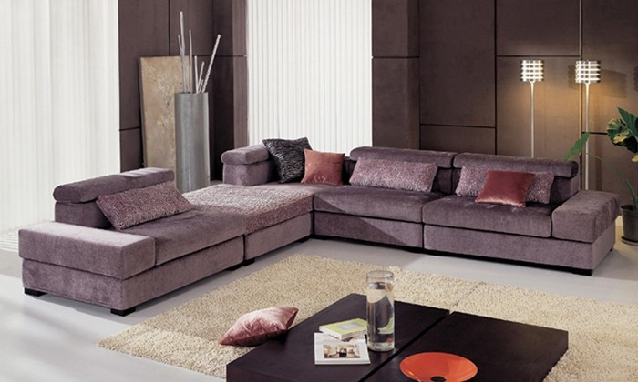 Free Shipping Fabric Furniture New Design Living Room L Shaped clearly within Washable Sofas (Image 4 of 20)